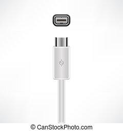 Thunderbolt Port - Fast Thunderbolt cable plug & socket (...