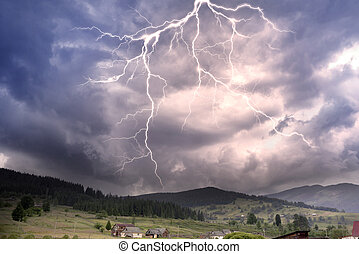 Thunderclouds in the mountains