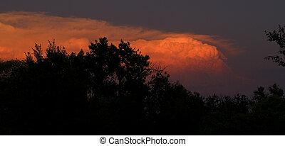 Thunderhead at Sunset