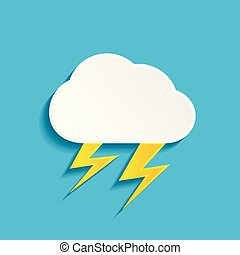 Thunderstorm icon. Vector illustration.