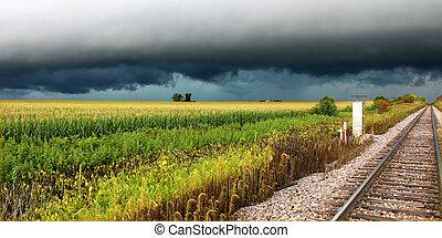 Thunderstorm in Rural Illinois