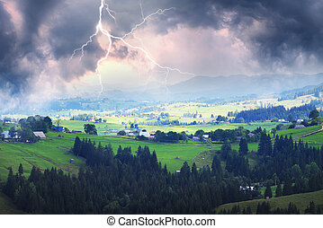 Thunderstorm in the Carpathians