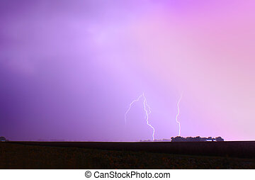 Thunderstorm Lightning Champaign Illinois