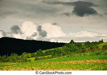 thunderstorm, nuvens