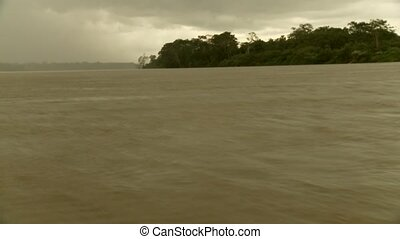Thunderstorm On Amazon River - Amazon River, South America