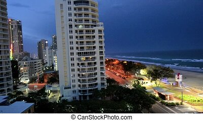 Thunderstorm over Surfers Paradise Gold Coast Queensland...