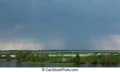 Thunderstorm. - Summer thunderstorm, lightning.