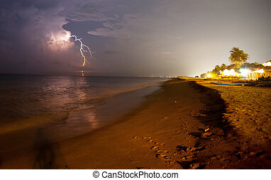 Thunderstorm - thunderstorm on beach