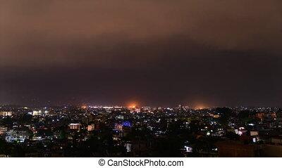 Thunderstorm time-lapse Kathmandu - Thunderstorm time-lapse...
