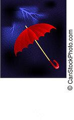 thunnderstorm, paraguas