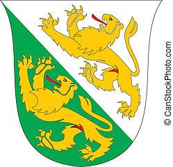 Thurgau coa - Various vector flags, state symbols, emblems...