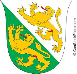 Thurgau coa - Various vector flags, state symbols, emblems...