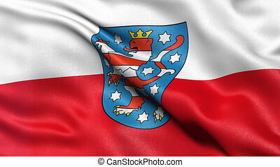 Thuringia state flag seamless loop