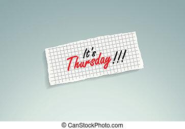 thursday!, den