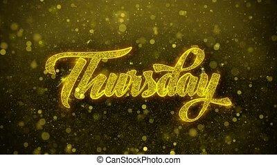 Thursday Wishes Greetings card, Invitation, Celebration...