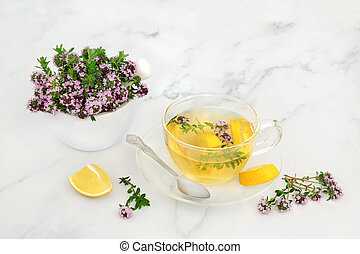 Thyme Herb Medication for Cold and Flu Virus
