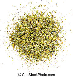 Thyme isolated - Photo of ground thyme leaves isolated on ...