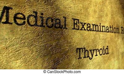 thyroïde, examen médical