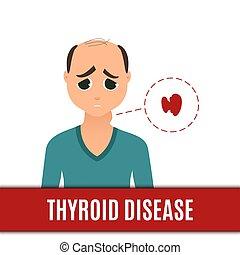 thyroïde, hommes, désordre