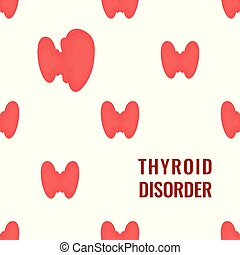 Thyroid gland pattern medical poster on white background -...