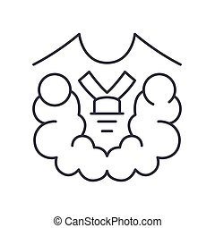 Thyroid screening test icon, linear isolated illustration, thin line vector, web design sign, outline concept symbol with editable stroke on white background.