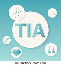 TIA (Transient Ischemic Attack) medical concept