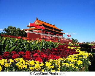 Landmark architecture Tian an meng in Beijing China