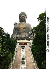 tian bronzeado, buddha, com, nenhuma pessoas