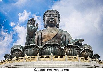 tian bronzent, bouddha