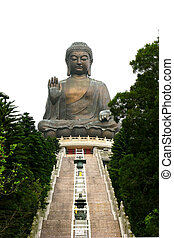 Tian Tan Buddha with no people