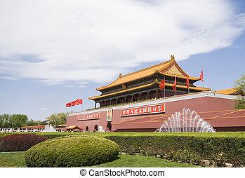 Tiananmen Gate Of Heavenly Peace in Beijing China.