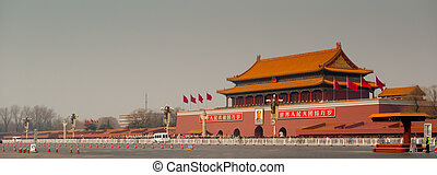 Tiananmen Gate to the Forbidden City in Beijing