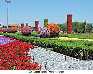 Tiananmen square gardens