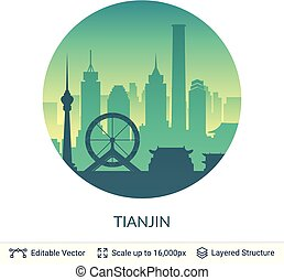 Tianjin famous China city scape.
