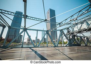 tianjin movable bridge closeup