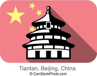 Tiantan, Temple of Heaven. Landmark of the world series