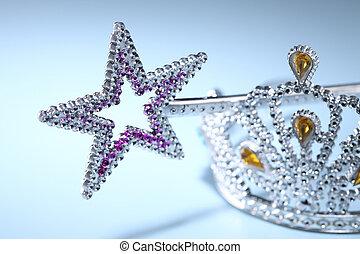 Tiara and a Star Shaped Wand