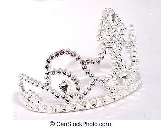 tiara or crown details on white background