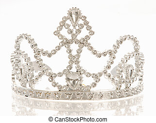 tiara or crown - crown or tiara isolated on a white...