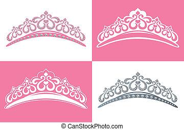 Tiara - This graphic is 4 tiara image. Illustration vector.