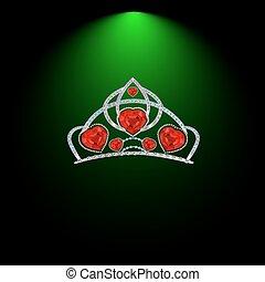 tiara with diamonds and rubies.ai1.ai1