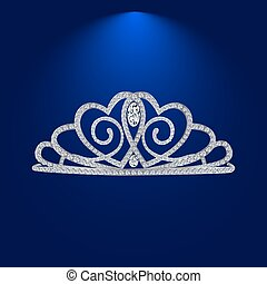 tiara with diamonds