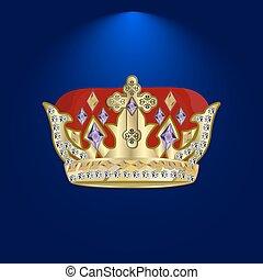 tiara with precious stones
