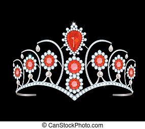 Tiara with rubies