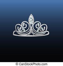 tiara with stones and diamonds.eps