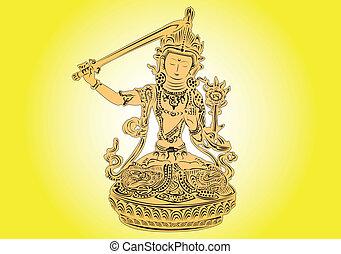 tibétain, god.
