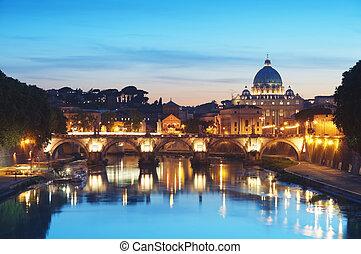 tiber, -, italië, rivier, rome
