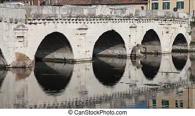 Tiberius' Bridge closeup, Rimini