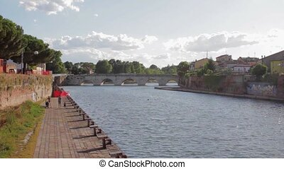 Tiberius bridge Rimini Italy - Tiberius bridge landmark...