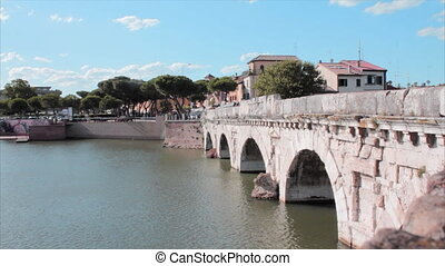 Tiberius bridge Rimini Italy